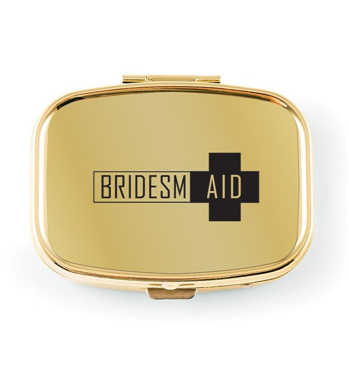 Gold Bridesmaid First Aid Hangover Pocket/Purse Pill Box