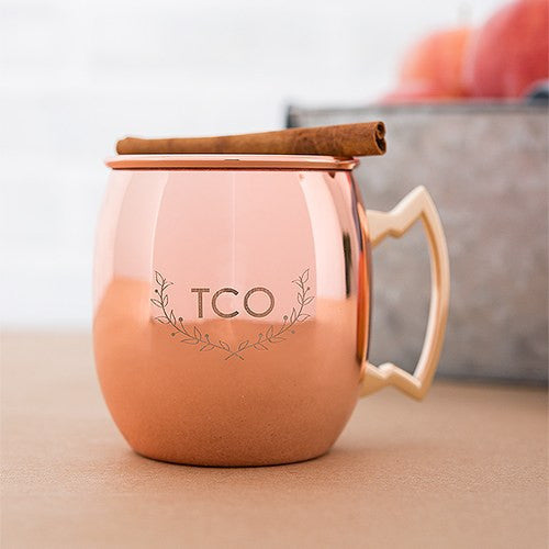 Woodland Monogrammed Copper Moscow Mule Mug