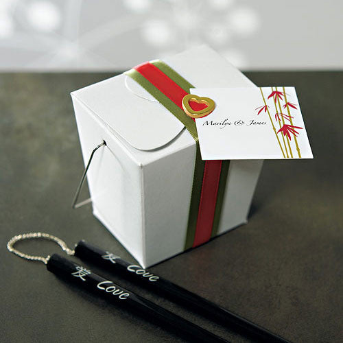 Wedding Favor Asian Take Out Box