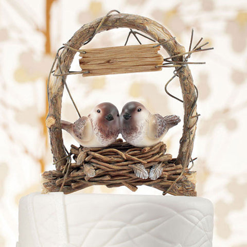 Love Nest Love Birds in Archway Cake Top