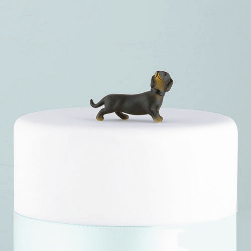 dachshund wedding cake dog figurine  u2013 candy cake weddings