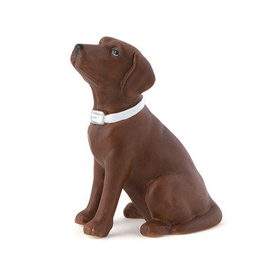 Brown Chocolate Labrador Dog Wedding Cake Topper