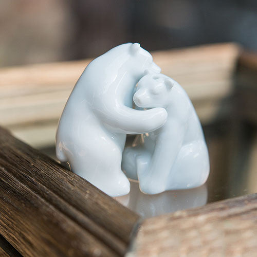 Interlocking Bear Mini Salt and Pepper Shakers