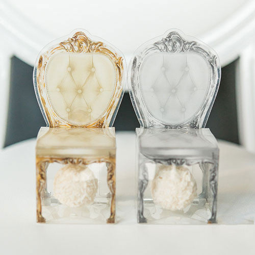 Chair Shaped Favor Boxes Candy Cake Weddings