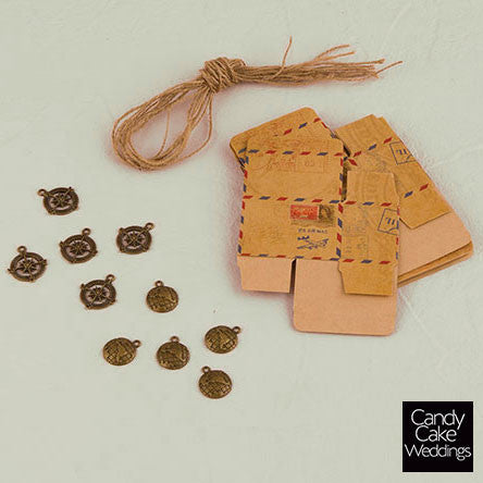 The Vintage Airmail Favor Box Kit (Pack of 10)