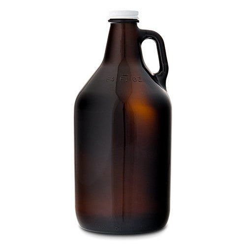 Amber Glass Barware Growler with Lid