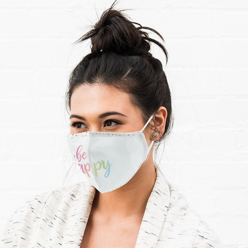 Adult Protective Reusable Cloth Face Mask - Be Happy