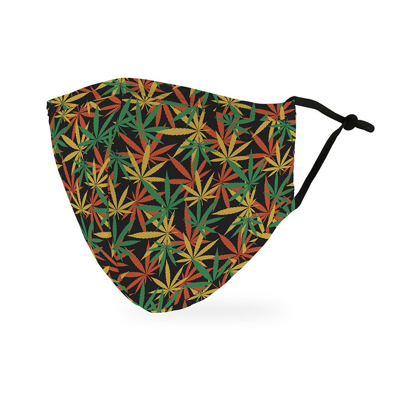 Personalized Adult Protective Cloth Face Mask - Cannabis Leaf
