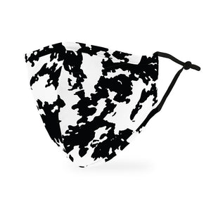 Cow print black and white face mask for him and her