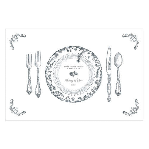 Personalized Paper Place Mat Table Setting