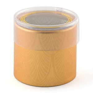 Art Deco Cylinder Box With Clear Lid (Pack of 6)