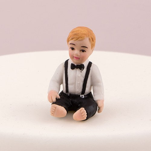 Baby Boy Porcelain Wedding Cake Topper