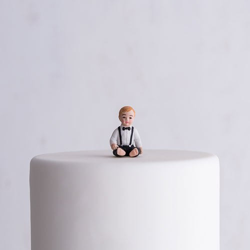 Boy Child Porcelain Wedding Cake Topper