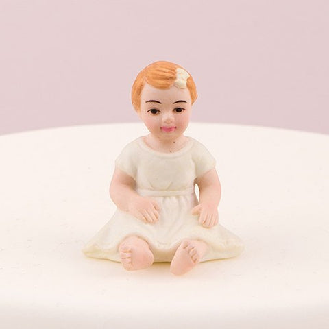 Baby Girl Daughter Porcelain Wedding Cake Topper