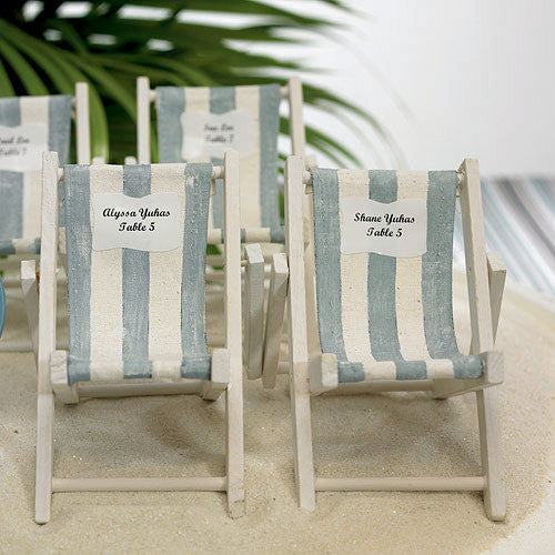 Beach Nautical Favor Mini Striped Deck Beach Chair