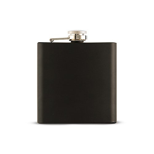 Personalized Thirst Aid Black Hip Flask