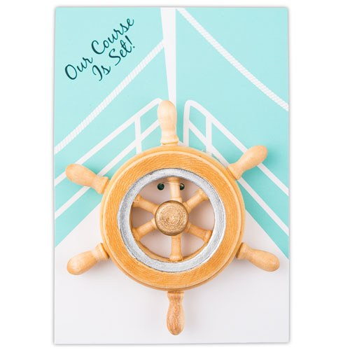 Boat Wheel Magnet Wedding Party Favor Gift (Pack of 6)