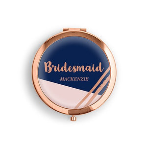 Personalized Bridal Party Retro Compact Mirror