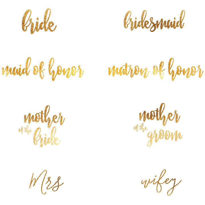 f16b99402f8 Bridal Party T-shirt Gold Lettering Scoop Neck – Candy Cake Weddings ...