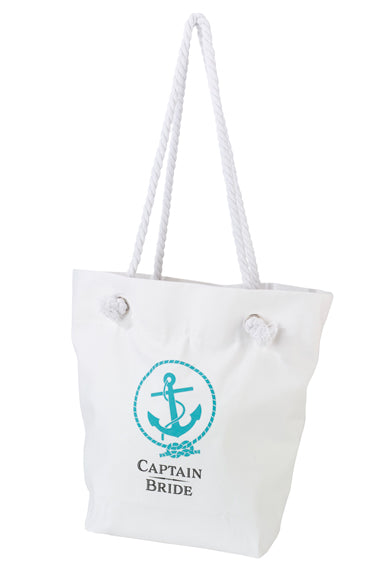 Bride's Crew Destination Wedding White Bridal Crew Tote Bag