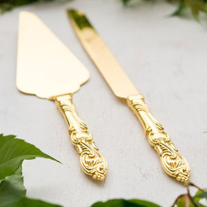 Gold Wedding Cake Serving Set