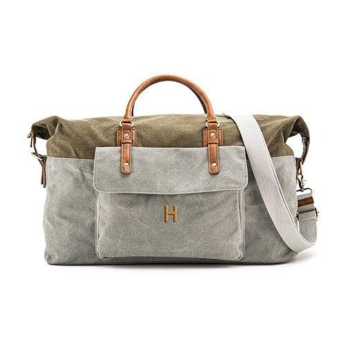 Men's Personalized Canvas Weekender Travel Bag