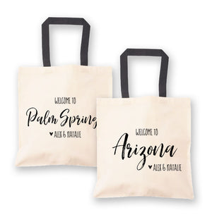 Personalized Destination Wedding Welcome Tote Bag