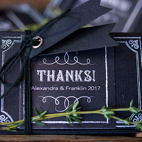 Chalkboard Print Favor Box 30-Piece Kit