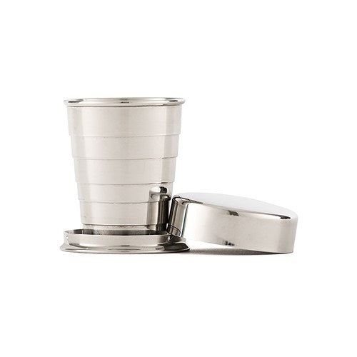 Collapsible Silver Shot Glass Gift Idea