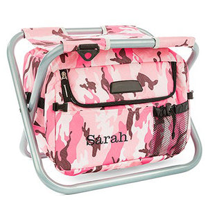 Personalized Pink Camouflage Cooler Chair