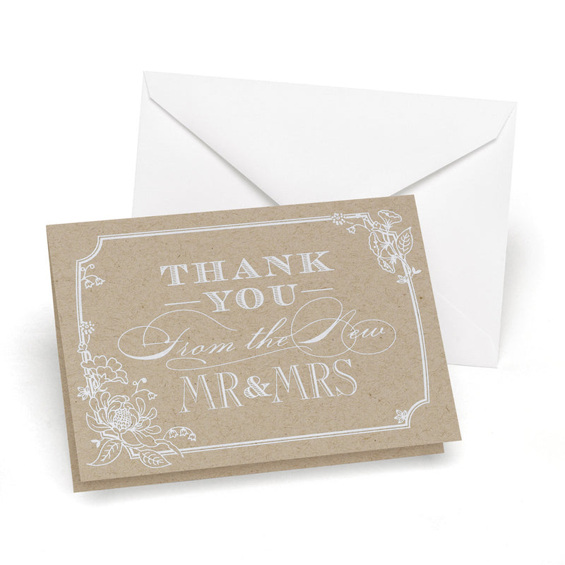 Rustic Chic Thank You Card Set