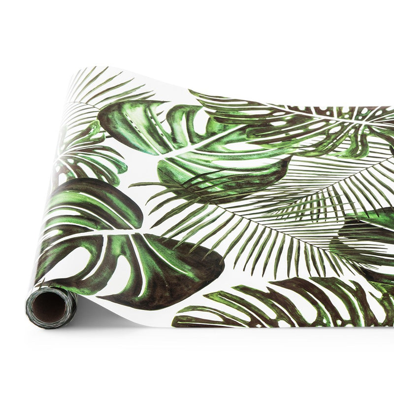 Tropical Leaf Decorative Paper Table Runner for Parties and Weddings