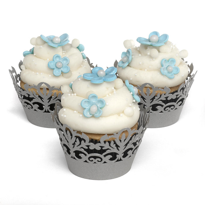 SIlver Decorative Cupcake Wrap (Pack of 25)