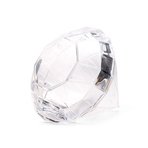 Diamond Acrylic Wedding Party Favor Container (Pack of 4)