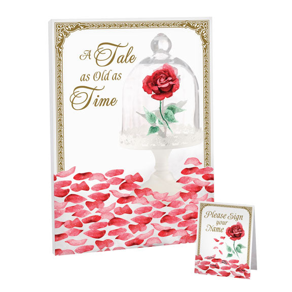 Fairy Tale Rose Petal Wedding Ceremony Signing Canvas