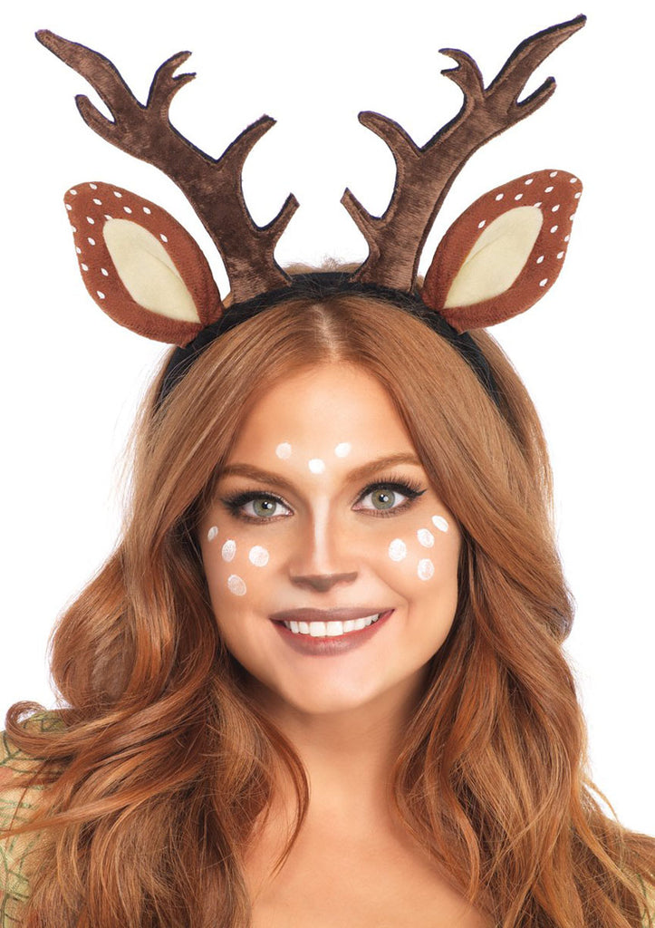 Christmas Woodland Fawn Ear Antler Headband