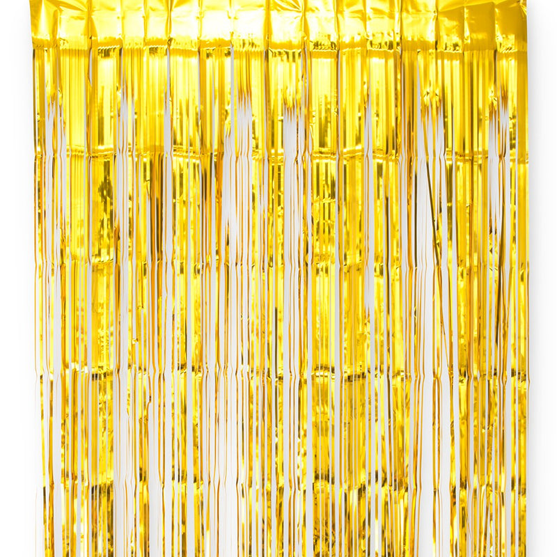 Metallic Gold Tinsel Streamer Party Background Photo Backdrop