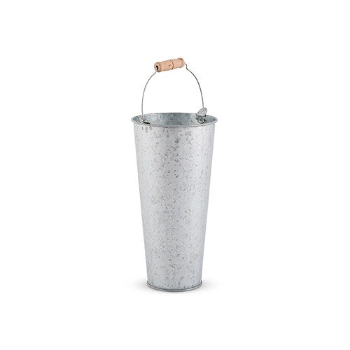 Galvanized Flower Market Bucket With Handle - Small