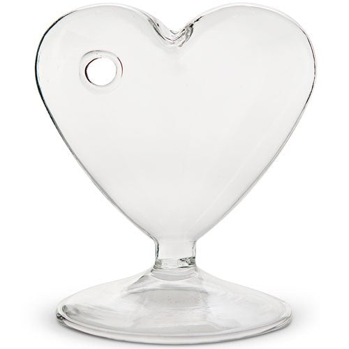 Glass Heart Centerpiece Vase