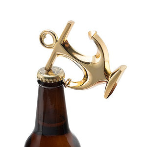 Gold Anchor Bottle Opener Wedding Party Favor