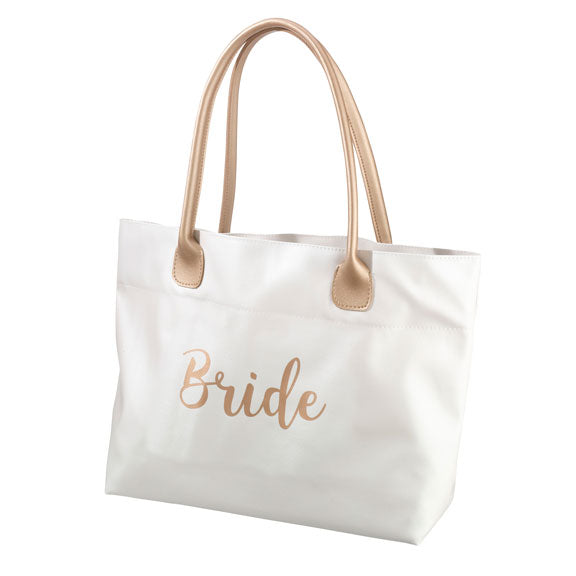 Metallic Gold Bridal Tote Bag