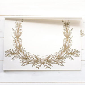 Gold Wedding Party Table Placemat