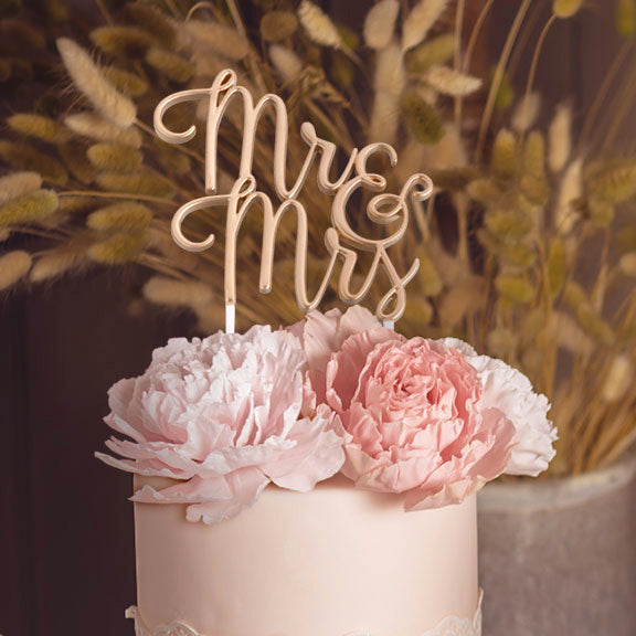 Gold Mr & Mrs Wedding Cake Topper