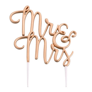 Gold Mr and Mrs Wedding Cake Topper