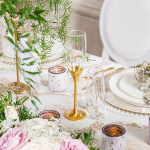 Gold Stemmed Wedding Glass Set