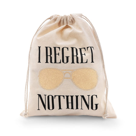 I Regret Nothing Party Wedding Favor Bag