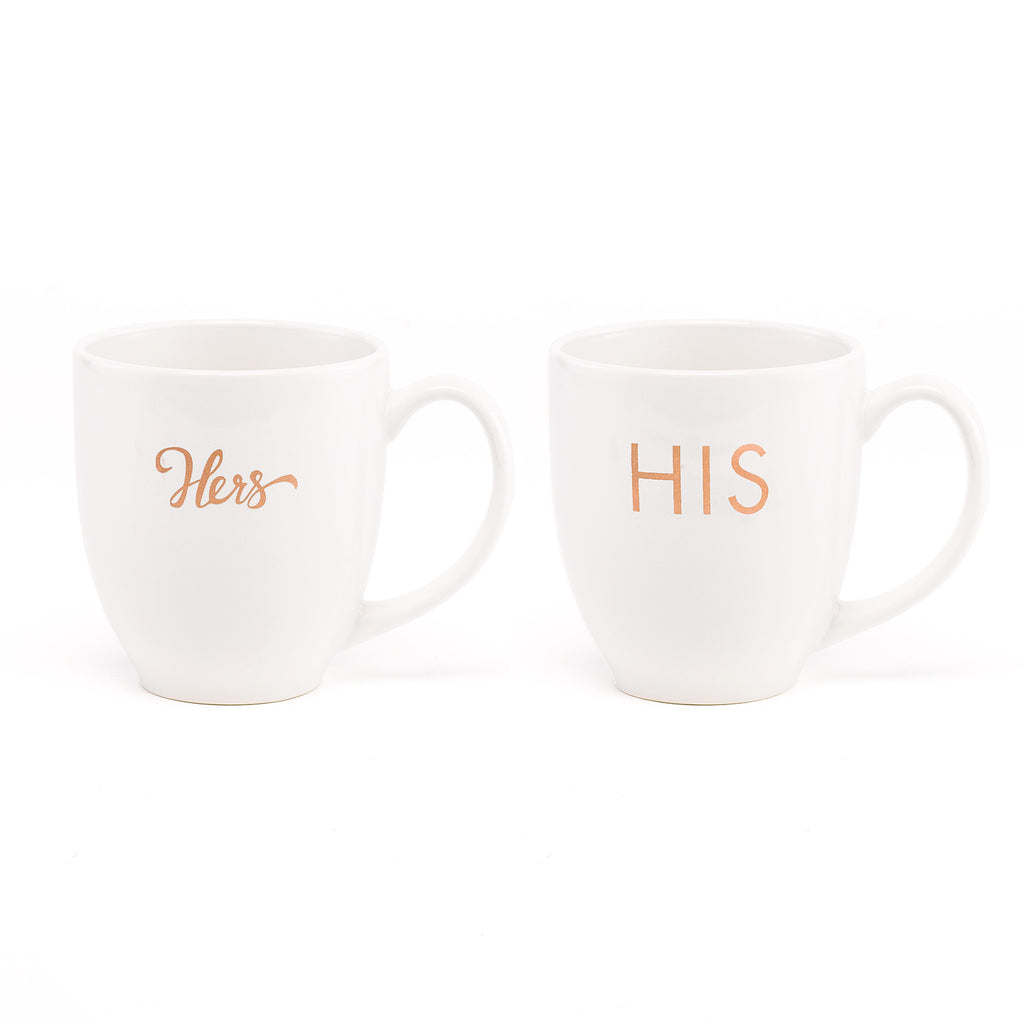 His and Hers Coffee Tea Mug Gift Set