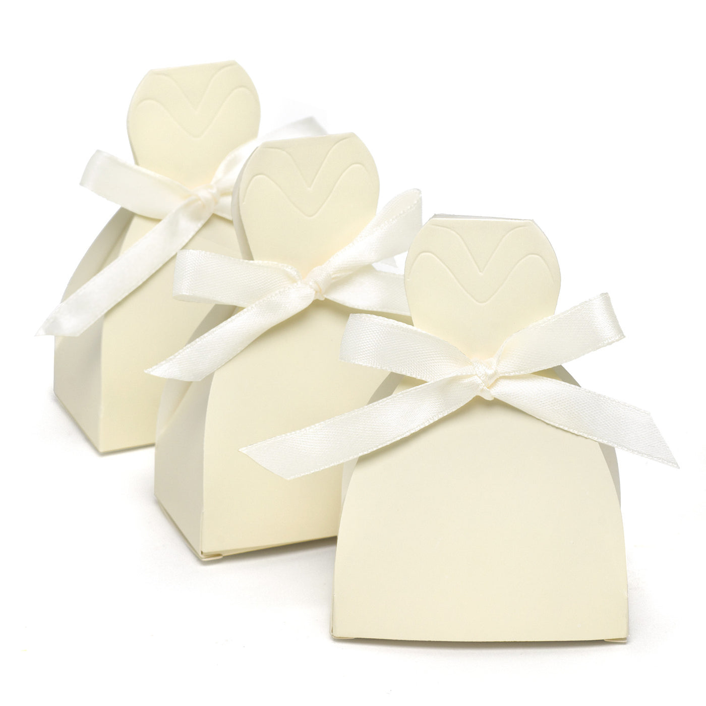 Bridal Gown Dress Favor Boxes Pack Of 25 Candy Cake Weddings