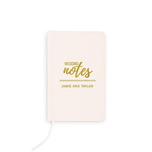 Wedding Notes Emboss - Linen Wedding Vows Pocket Journal