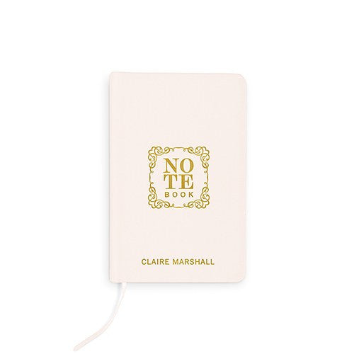 Note Book Emboss - Linen Wedding Vows Pocket Journal